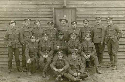 Private Donald Mainland  (at bottom right) is pictured with members of the Fort Garry Horse. [PHOTO: COURTESY DON GILLMOR]
