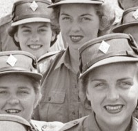 Personnel of the Canadian Women's Army Corp at No. 3 CWAC (Basic) Training Centre. [LAC/PA-145516]