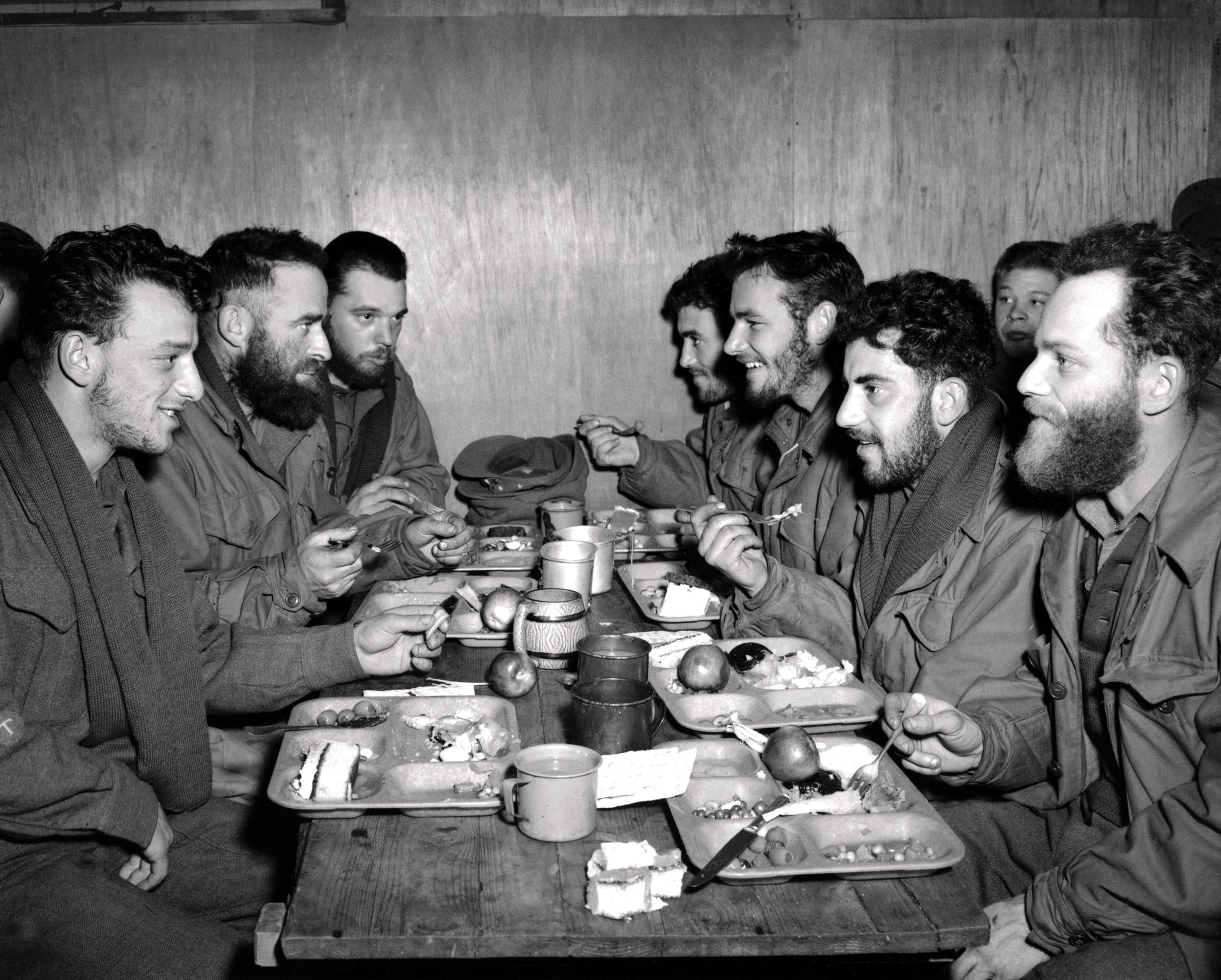 Historic Korean War Photo – Christmas Dinner, 1953