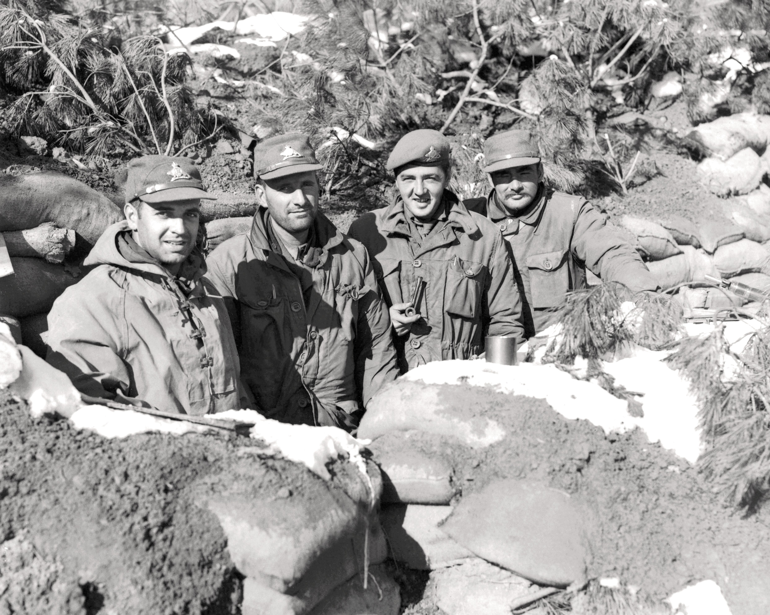 Historic Korean War Photo – Officers On Hill 355