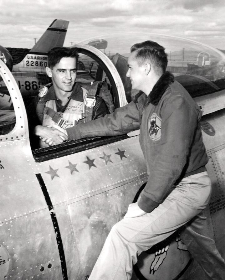 Historic Korean War Photo – Flight Lieutenant Ernie Glover