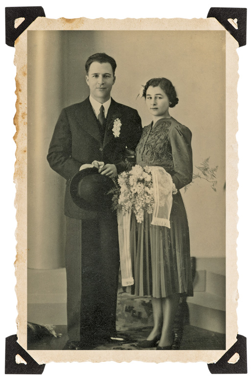 The author's parents, Gerard and Marie Triesman, on their wedding day, March 26, 1940, six weeks before the Nazis invaded the Netherlands. [Courtesy of Gerard Triesman]