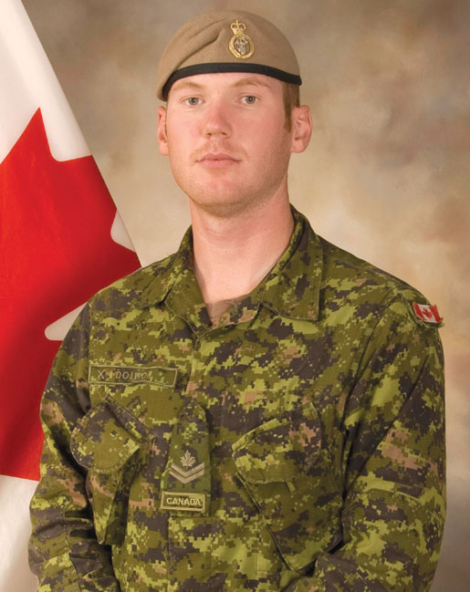 Sergeant Andrew Doiron was shot  and killed in Iraq on March 6, 2015. [DND]