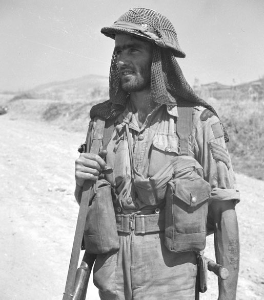 Sgt. H.E. Cooper, 48th Highlanders of Canada, Sicily, 1943. [LAC/PA-130215]