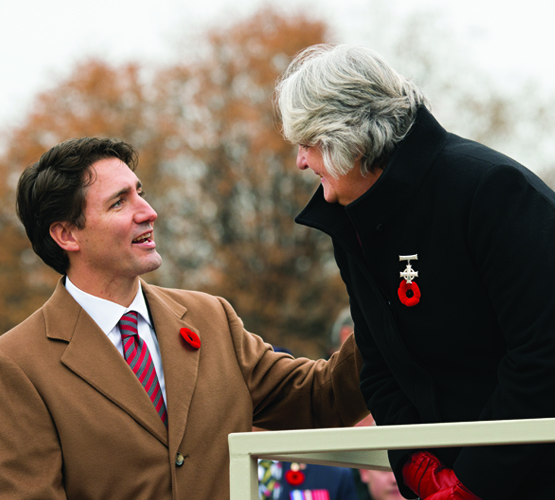 Trudeau and Silver Cross Mother