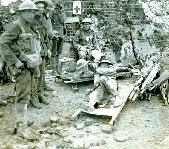 Historic Victoria Cross Photo – A wounded soldier