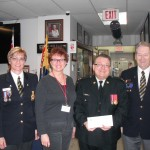 Streetsville Overseas Veterans Br. 139 in Mississauga, Ont., $5,000 to army cadets