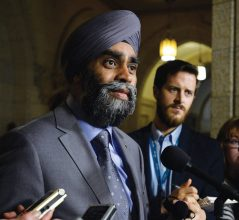 Defence Minister Harjit Sajjan talks with media in Ottawa on Tuesday, Dec. 15, 2015. THE CANADIAN PRESS IMAGES/Matthew Usherwood