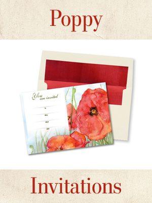 Poppy Card Thumbnails Invitations