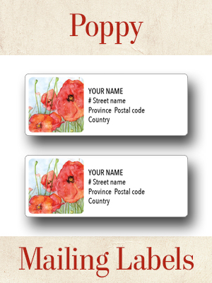 personalized poppy mailing labels version two legion magazine