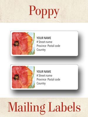 Poppy Mailing labels thumbnails