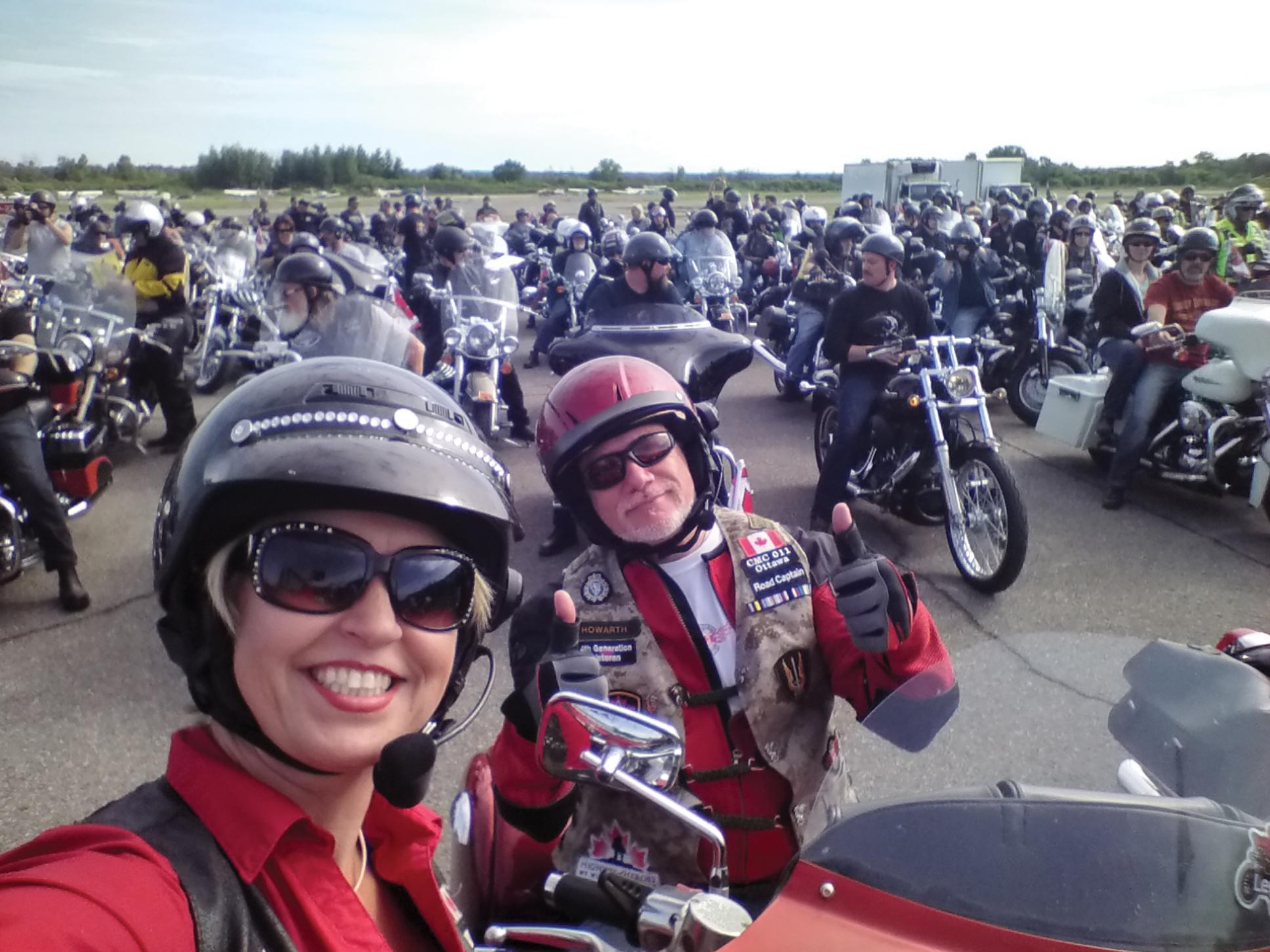 Riding to raise awareness