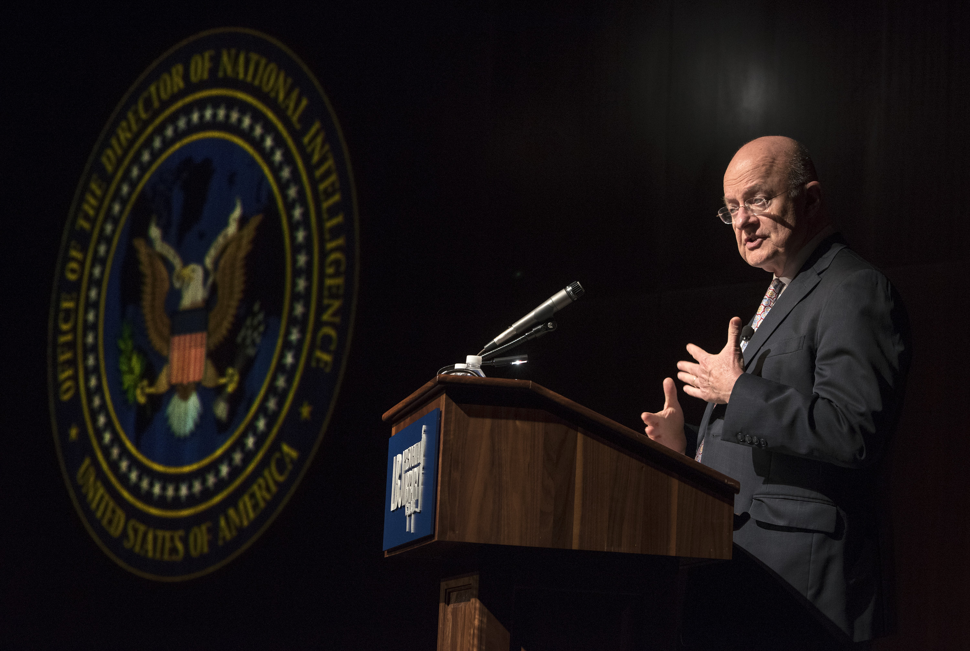 Director of National Intelligence James Clapper In a speech at the LBJ Presidential Library on Thursday, Sept. 22nd, 2016, Director of National Intelligence James Clapper discussed national security as we prepare for an election year change in the White House. Following his remarks, Admiral Bob Inman, former Director of the National Security Agency and Deputy Director of the CIA, and Stephen Hadley, former National Security Advisor, joined Clapper on stage for a conversation moderated by LBJ Library Director Mark Updegrove on the pressing national security issues facing our nation. LBJ Library photo by Jay Godwin 09/22/2016 LBJ Library photo by Jay Godwin 09/18/2016