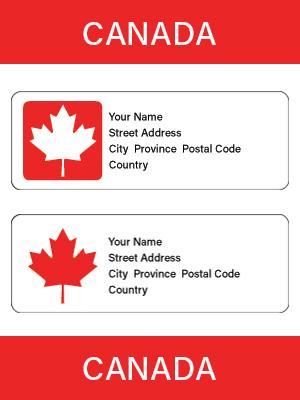 official canadian maple leaf mailing labels legion magazine