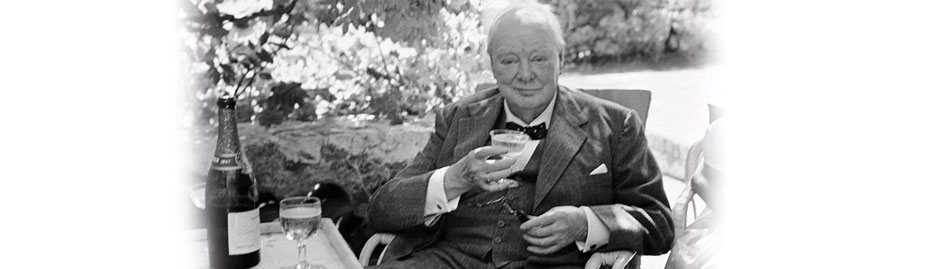 Winston wets his whistle: Churchill's indulgences