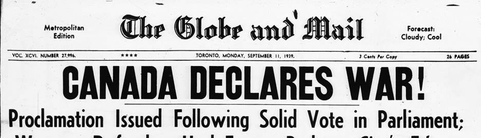Should Canada have gone to war in September 1939?