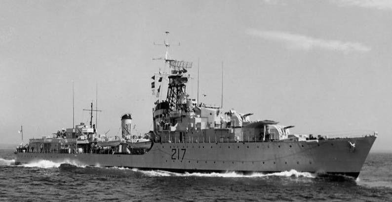 HMCS <em> Iroquois </em> damaged in Korea