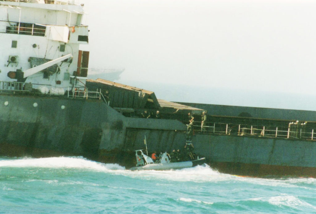 A Canadian boarding party at work in the Persian Gulf.