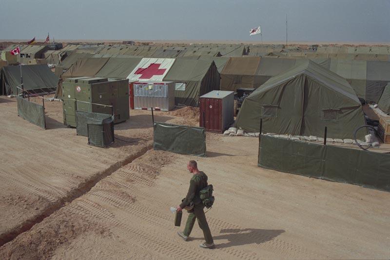 General view of the No. 1 Canadian Field Hospital in Al Qaisumah, Saudi Arabia. February 11, 1991.