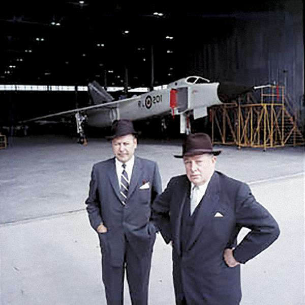 Avro president Crawford Gordon
