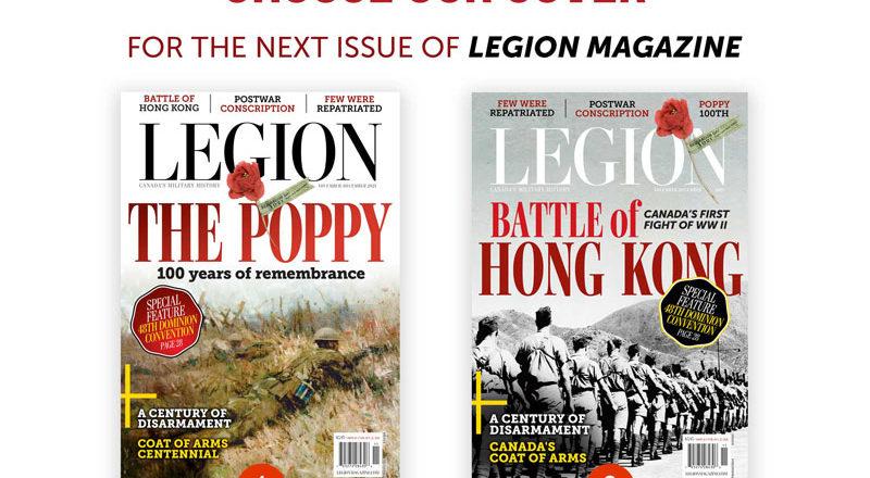 Choose our cover for the November/December issue of <em>Legion Magazine</em>!