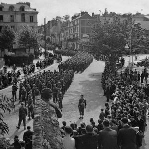 At the liberation of Dieppe
