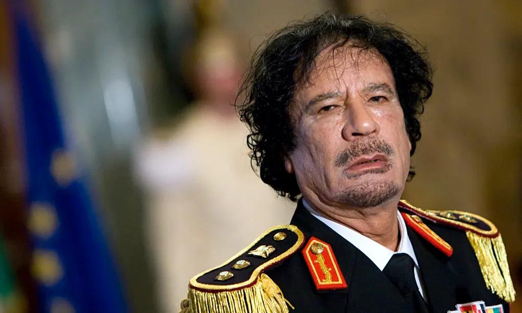 Libyan leader Moammar Gadhafi , pictured in Rome in 2009.
